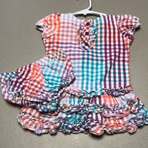 Hartstrings dress with diaper cover